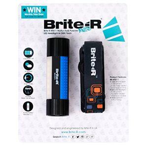 Brite-r BR-HT011BB - Multus doble propósito cree xp-e r2 led de los faros y linterna antorcha con cinta para la cabeza diadema - negro/azul