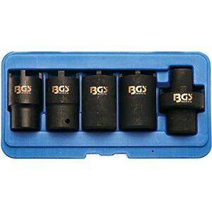 BGS technic BGS 67220   Juego de vasos almenados para tuercas ranuradas   5 piezas