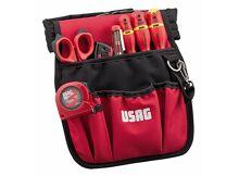 Herramientas manuales USAG U00070038 - Pack de 7 piezas bolsa  portaherramientas con surtido para electricistas 1cfdf527c562