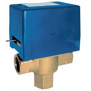 Mut modelo SF20 M1, 230 V, válvula de zona con retorno de muelle desviador de 3 vías, 230 V, azul y amarillo