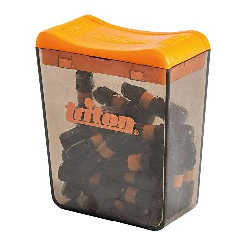 triton tpta52695211 puntas pozidriv para atornillador de impacto, 0 v, negro, set de 25 piezas