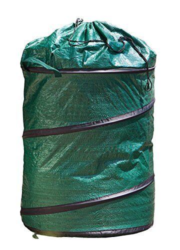 WindhagerSaco de jardín Pop UpIncluso aufste llend Spring Saco 120L, Cierre con cordón Plegable, Verde, 50x 50x 60cm, 06739