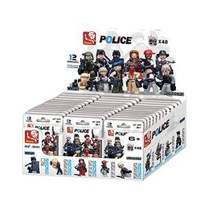 Sluban Bloques de Construccion Police Minifigures