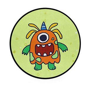 DXG1 Monster Yellow Area Rugs Alfombra redonda antideslizante suave alfombra de yoga bebé niños Play Pet Floor Mat para recámara, sala de estar sala de juegos