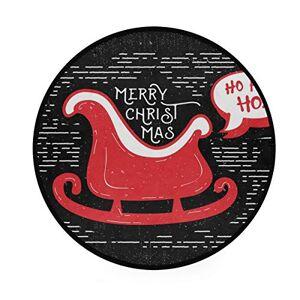 DXG1 Feliz Navidad Negro Area Rugs Alfombra redonda antideslizante suave alfombra Yoga bebé niños Play Pet Floor Mat para recámara salón sala de juegos