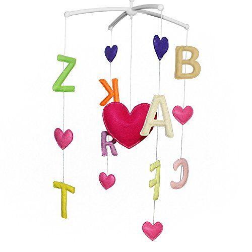 Dragon Juguetes del bebé, juguete musical móvil del pesebre del juguete de la decoración del sitio infantil para el niño, letra Tpye, C