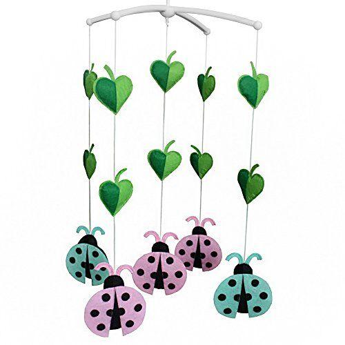 Dragon Juguetes del bebé, juguete musical móvil del pesebre del juguete de la decoración del sitio infantil para el niño, tipo de la mariquita