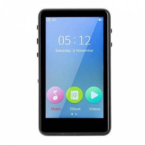 "WWBFDC Reproductor MP3, aleación de aluminio reproductor de música MP3 con 3"" Full-pantalla táctil Bluetooth MP3 con altavoz incorporado 8h Duración de la ayuda HD 1080P de reproducción de vídeo -Negro WTZ01"