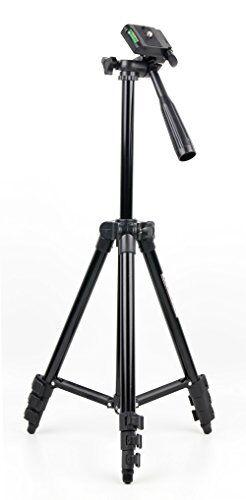 duragadget trípode extensible con nivel de burbuja para cámara canon powershot sx430 is   powershot sx730 hs   powershot g9 x mark ii   ixus 185   ixus 190 peso máximo 2 kg. incluye funda protectora.