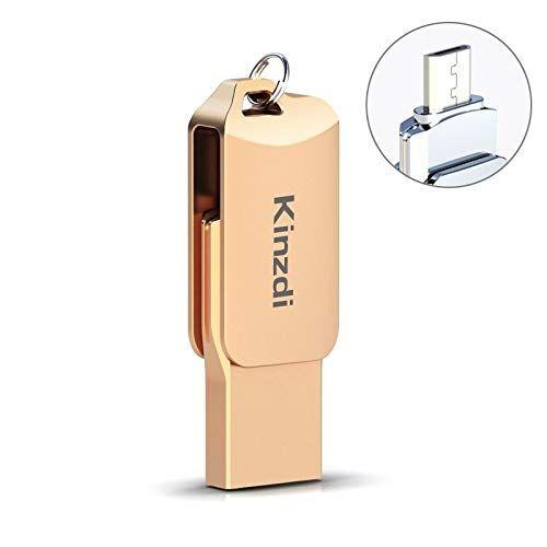 Zhangsihong 32 GB USB 2.0 teléfono Android informáticos y de Doble Uso Rotary Metal del Disco de U V8 USB Flash Drive (Color : Rose Gold)