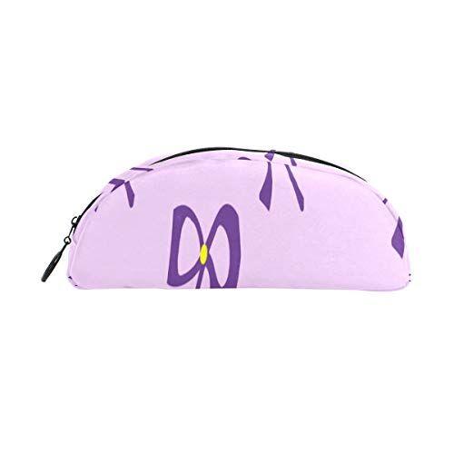 plsdx bolso de lápices arco diario decoración de moda bolígrafo organizador estuche lápiz bolso bolsa cremallera para estudiantes clase niños boy chica escuela bolsa de golf bolígrafo