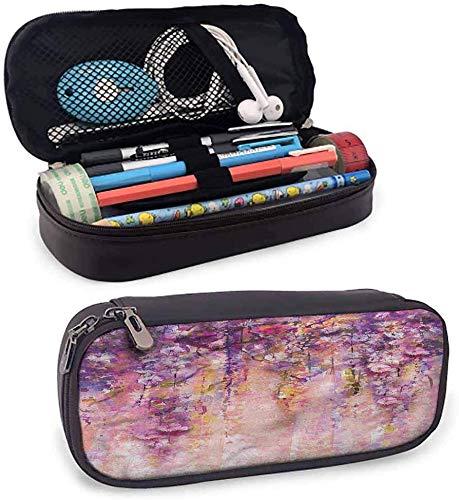 maja shop estuche pequeño con diseño de flores para lápices con cierre de cremallera, para uso diario, color color05. 3.5x1.5x8