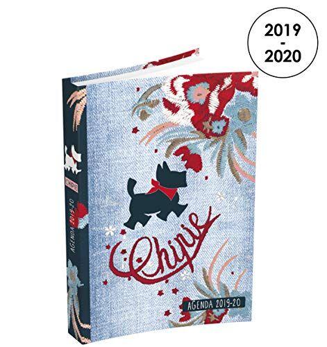 chipie chipia - agenda diaria 2019  2020 de agosto a julio  1 día por página en formato 12 x 17 cm  cubierta para decoración de fondo vaquero