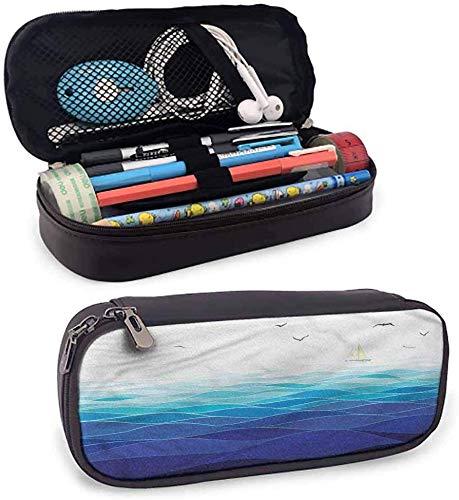 vicky estuche para lápices abstracto con diseño de hojas delicadas y cremallera, uso diario, color color02. 3.5x1.5x8