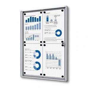 UNIPOS 4 x A4 Tablero de anuncios con cerradura para uso en interiores