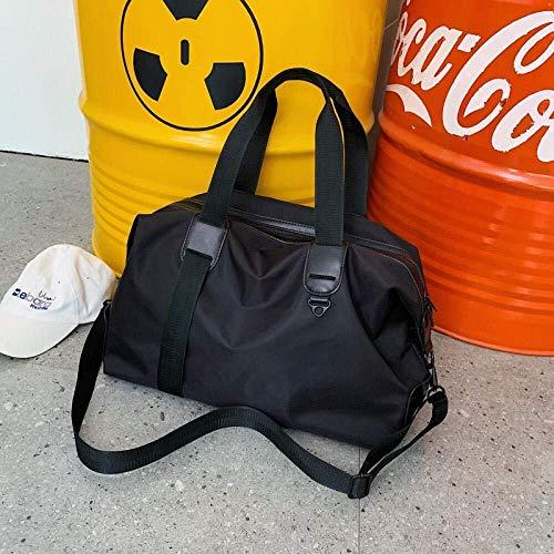 no brand ir a cabo y el paquete de algo que necesita bolsa de viaje de equipaje de mano hombres y mujeres grande gris oxford business estilo europeo y americano deportes de hombro (color : black)