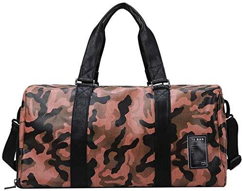 no brand ir a cabo y el paquete de algo que necesita yoga bolsa de deporte de fitness plegable l bolsa de viaje for el equipaje de mano (color : red camouflage)