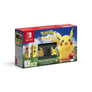 Nintendo Switch: Consola edición Pokémon + Let's Go Pikachu (Preinstalado) + Poké Ball Plus (Edición limitada)