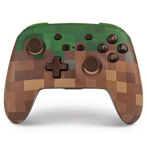 Power A Mando inalámbrico PowerA para Nintendo Switch: Minecraft Grass Block
