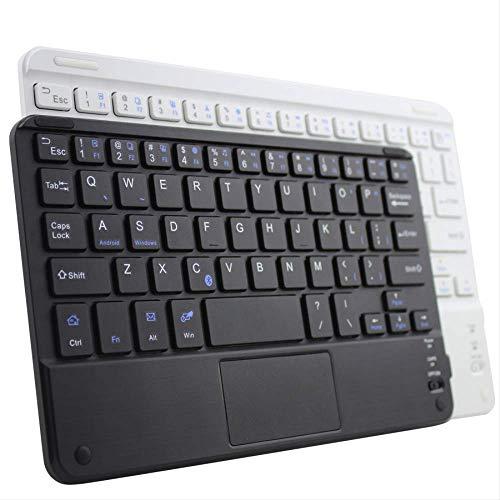 nobrand teclado externo de tableta con panel táctil teclado bluetooth ultrafino negro