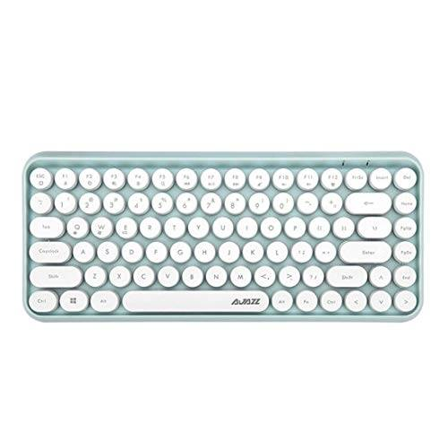 yeyoucai teclado rwjgnx ajazz 308i de la tableta del teléfono móvil de la computadora del hogar oficina inalámbrico (negro) (color : green)