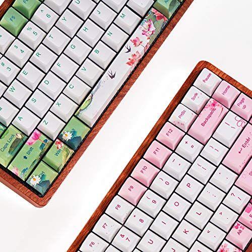huoguoyin teclado para juegos teclado mecánico 75% de la costumbre de la lámpara de modo dual madera bluetooth 4.0 usb teclado mecánico (color : gk84 pcb only x1)