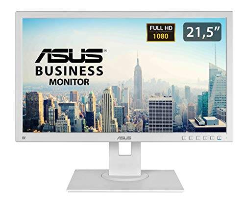 asus be229qlb-g pantalla para pc 54,6 cm (21.5) full hd led plana mate blanco - monitor (54,6 cm (21.5), 1920 x 1080 pixeles, full hd, lcd, 5 ms, blanco)