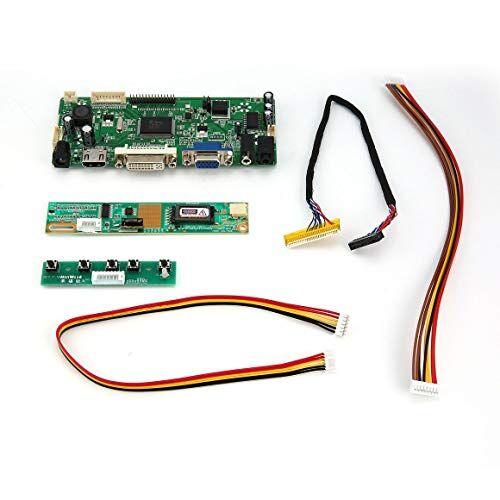 funnyrunstore professional m.nt68676.2a hdmi dvi vga audio pantalla lcd led placa de controlador de pantalla diy kit de monitor de pantalla conjunto (verde)