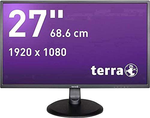 wortmann ag terra lcd/led 2747w pantalla para pc 68,6 cm (27) full hd plana negro - monitor (68,6 cm (27), 1920 x 1080 pixeles, full hd, led, 5 ms, negro)