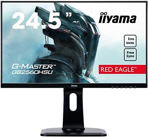 iiyama g-master gb2560hsu-b1 led display 62,2 cm (24.5) full hd lcd plana mate negro - monitor (62,2 cm (24.5), 1920 x 1080 pixeles, full hd, led, 1 ms, negro)