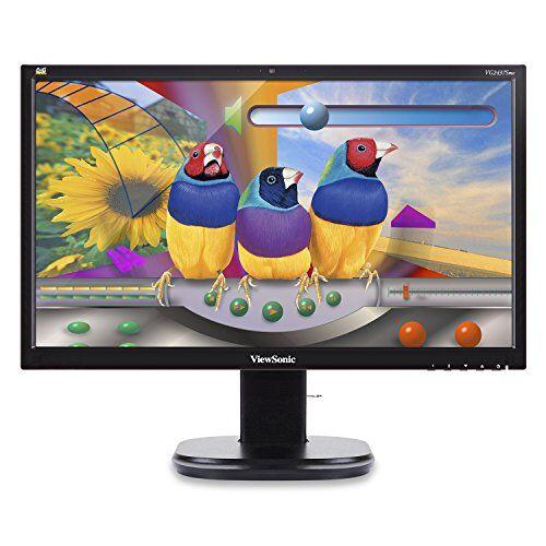 viewsonic vg series vg2437smc 24 black full hd - monitor (led, lcd/tft, 1920 x 1080 pixeles, negro, 100-240 v, 50/60 hz)