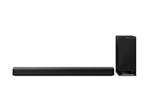 panasonic sistema de barra de sonido 3.1 de panasonic sc-htb900egk (tuned by technics, dolby atmos, dts:x, 505w rms, subwoofer inalámbrico, bluetooth).