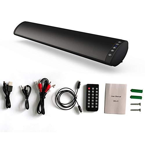 bclaer72 barra de sonido, con cable e inalámbrico, mini altavoces de barra de sonido para cine en casa sonido surround con subwoofer integrado para tv/pc/móvil/tablet con mando a distancia.