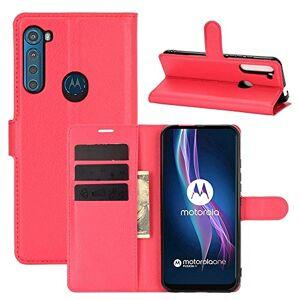 LWL House Caso For el Caso Protector del tirón de Motorola Una Fusion + Litchi Textura Horizontal con el sostenedor y Ranuras for Tarjetas y Monedero (Color : Red)
