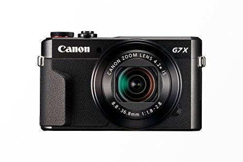 canon powershot g7 x mark ii - cámara digital compacta de 20.1 mp (pantalla de 3, apertura f/1.8-2.8, zoom óptico de 4.2x, video full hd, wifi), color negro