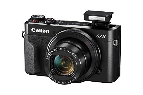 canon powershot g7x mark ii - cámara digital (32gb, procesamiento digic, sensor cmos de 20.1 megapíxeles, vídeos 1080p) negro, kit con tripod