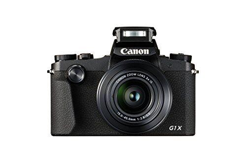 canon powershot g1x mark iii - cámara réflex de 24.2 mp (dual pixel cmos af, full hd, digic 7, pantalla táctil lcd, bluetooth, sensor aps-c, visor oled evf) color negro