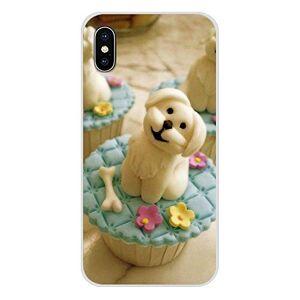 TREW for Apple iPhone X XR XS 11Pro Max 4S SE 6S 5C 5S 7 8 Plus iPod 5 6 cachorros blanco malteses fundas de perro transparente TPU Shell (color: imágenes 2, material: for iPhone 11Pro)