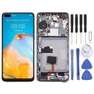 Athena Pantalla-LCD y digitalizador Asamblea con Marco Completo for Huawei P40 Móvil (Color : Black)