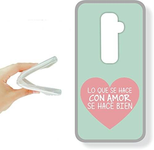 funda gel para movil-asvinilo lg g2 mini - funda gel tpu con dibujo frases molones, ref:262