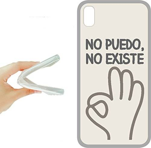 funda gel para movil-asvinilo iphone x - funda gel tpu con dibujo frases molones, ref:314