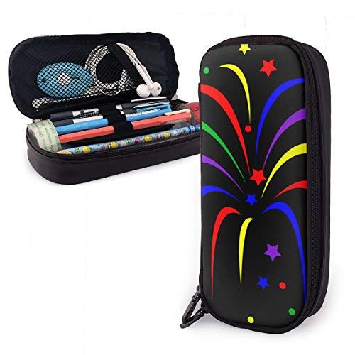 ruyoukeji estuche para lápices de colores arcoíris para niños y niñas, estuche grande para bolígrafos, para estudiantes, universidades, suministros escolares y oficina