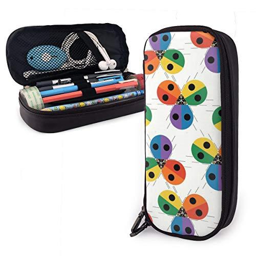 ruyoukeji ladybug - estuche para lápices de colores para niños y niñas, estuche para bolígrafos, para estudiantes, universidad, material escolar y oficina