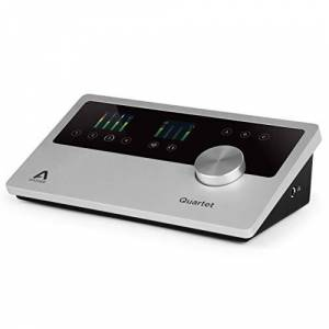Apogee Quartet - Accesorio de audio (6 dBv, 114 Db, 24 Bit, 192 kHz, 44.1-96 Hz, 75 Db) Negro, Plata