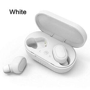 OOPP Auriculares redmi Bluetooth, auriculares inalámbricos, auriculares auriculares con cancelación de ruido Plus para iPhone Xiaomi Huawei Samsung,blanco