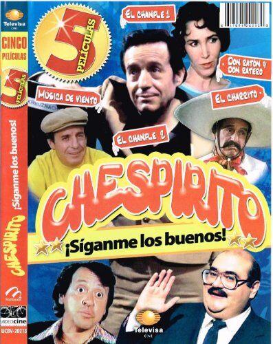 """CHESPIRITO """"SIGANME LOS BUENOS"""" [5 PELICULAS] EL CHANFLE 1 & EL CHANFLE 2 & EL CHARRITO & MUSICA DE VIENTO & DON RATON Y DON RATERO [ROBERTO GOMEZ BOLANOS & FLORINDA MEZA]"""