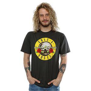 Guns N' Roses Guns N Roses hombre Bullet Logo Camiseta Medium Grafito luz