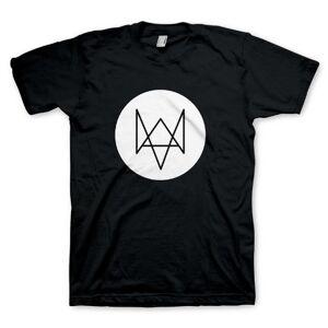 Desconocido Watch Dogs Fox - Camiseta de manga corta para hombre, color negro, talla M