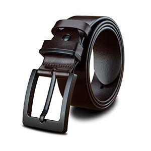 LUCIANO Top Italia Cinturón de cuero genuino Cinturón de cuero negro y marrón Cinturones de vestir para hombres BR-140