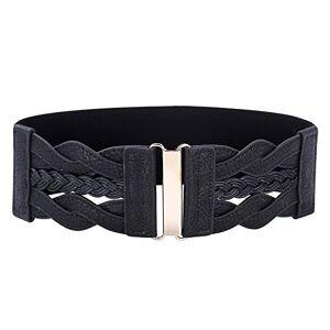GRACE KARIN Negro Cinturón Para Mujeres Elásticos Ancho Resistente XL Estilo 1